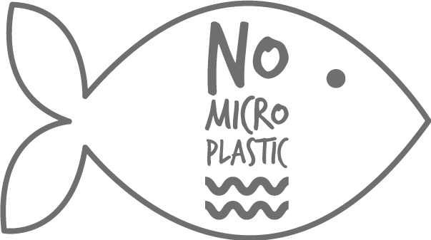 Logo No Mircor Plastik alle lipure Produkte sind zu 100 Prozent ohne Mikroplastik